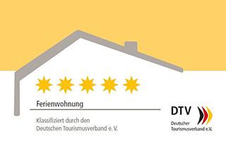 Auszeichnung 5 Sterne durch Deutschen Tourismusverband